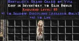 Assassin Shadow Disciplines w/ 41-44 Life GC