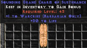 Barbarian Warcries w/ 30 Life GC