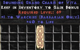 Barbarian Warcries w/ 40 Life GC