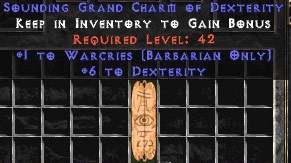 Barbarian Warcries w/ 6 Dex GC