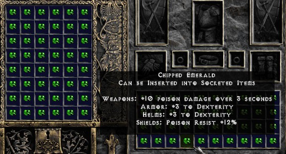 Chipped Emerald - Pack of 88