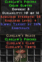 Cleglaw's Pincers - 9 Def - Perfect