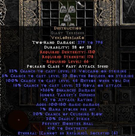 Destruction Giant Thresher - Ethereal - 15% ED