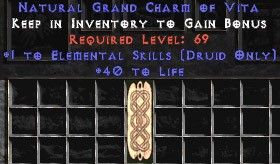 Druid Elemental Skills w/ 40 Life GC