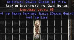 Druid Shape Shifting Skills w/ 45 Life GC