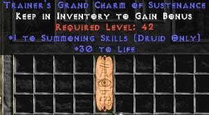 Druid Summoning Skills w/ 30 Life GC