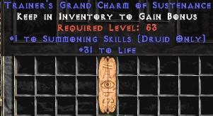 Druid Summoning Skills w/ 31-34 Life GC