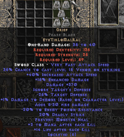 Grief Phase Blade - 40% IAS & 390-399 Damage