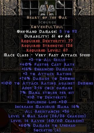 Heart of the Oak Scourge - 35-39 Res
