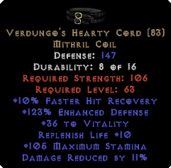 Verdungo's Hearty Cord