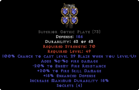=+20/-20 Fire Facet Level-Up Gothic Plate