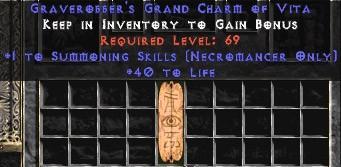 Necromancer Summoning Skills w/ 40 Life GC