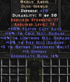 Ormus' Robes - 15% All & +3 Meteor