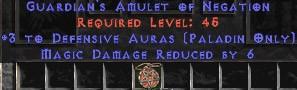 Paladin Amulet - 3 Defensive Auras & 6 MDR