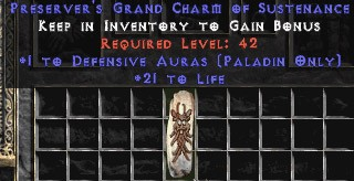 Paladin Defensive Auras w/ 21-29 Life GC