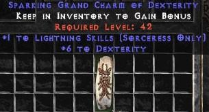 Sorceress Lightning Skills w/ 6 Dex GC