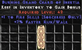 Sorceress Fire Skills w/ 7% FRW GC