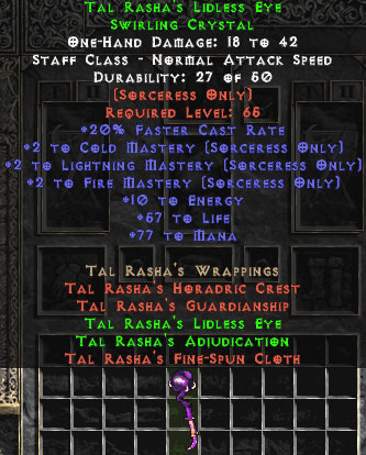 Tal Rasha's Lidless Eye - +2 All Masteries - Perfect