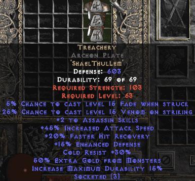 Treachery Archon Plate - Base 15% ED