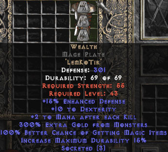 Wealth Mage Plate