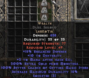 Wealth Dusk Shroud