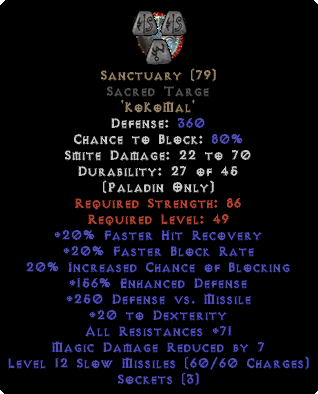 Sanctuary Sacred Targe - 71-99 All Res
