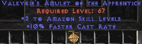 Amazon Amulet - 2 All Zon Skills & 10% FCR