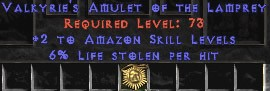 Amazon Amulet - 2 All Zon Skills & 6% LL