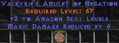Amazon Amulet - 2 All Zon Skills & 6 MDR