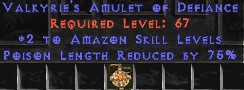 Amazon Amulet - 2 All Zon Skills & 75% PLR