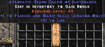 Amazon Passive & Magic Skills w/ 21-29 Life GC
