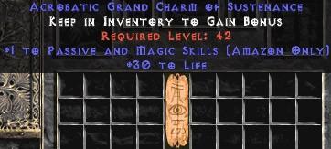 Amazon Passive & Magic Skills w/ 30 Life GC