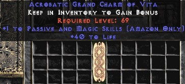 Amazon Passive & Magic Skills w/ 40 Life GC