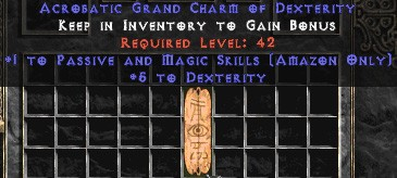 Amazon Passive & Magic Skills w/ 3-5 Dex GC